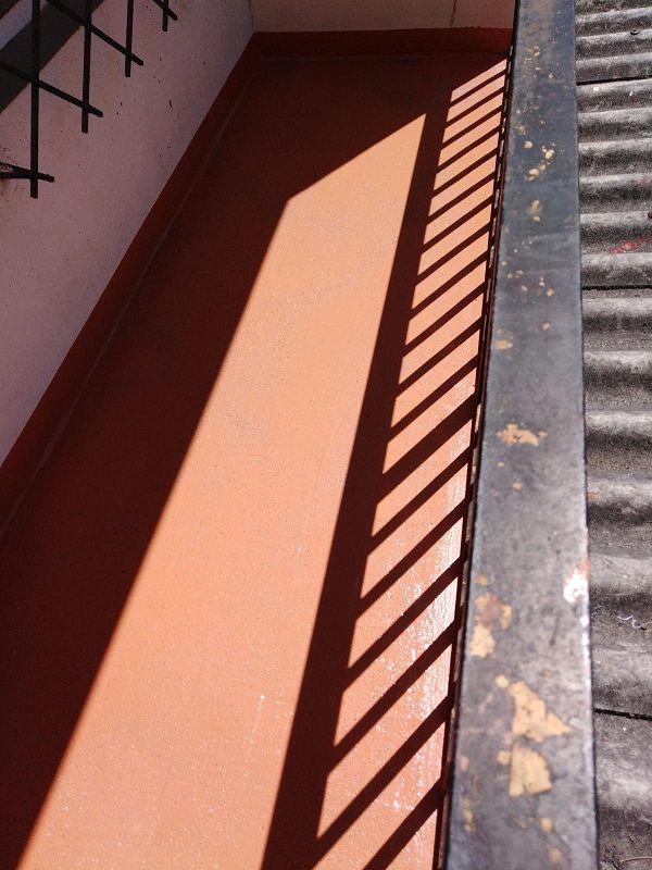Balcón perfectamente impermeabilizado