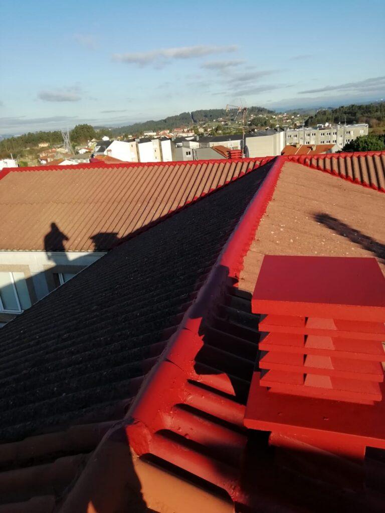 impermeabilización de rematarias del tejado