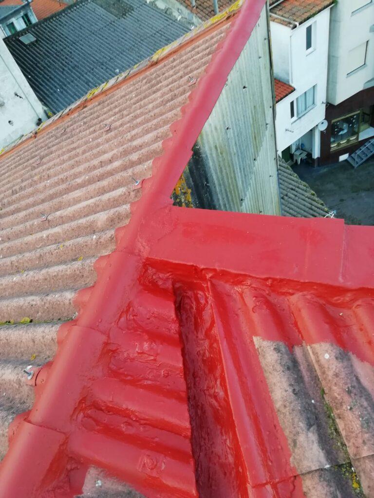 impermeabilización de vértices de tejado