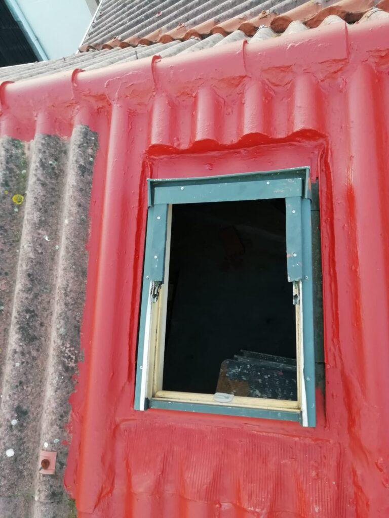 impermeabilización de ventana tipo velux