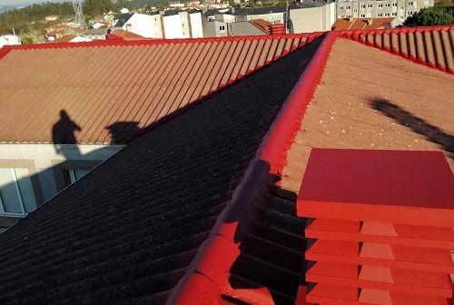 Reparación de rematarías en tejados de fibrocemento y teja