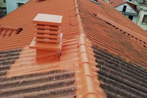 Reparaciones de rematerías y puntos críticos en cubierta de teja.
